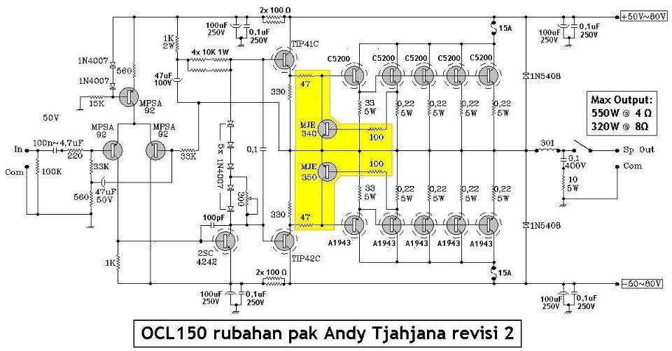 Power Ocl 500 Watt Skema Power Ocl 550 Watt